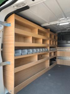 Aménagement utilitaire meuble gauche contreplaqué