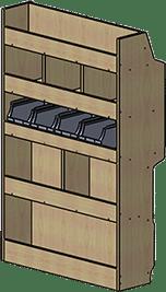 Aménagement fourgonnette meuble droit