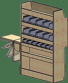 fourgonnette meuble droit
