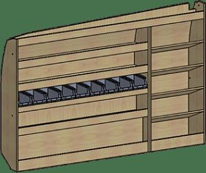 mini-fourgon meuble gauche