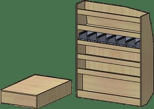 mini-fourgon meuble droit
