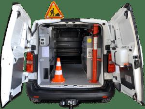Aménagement utilitaire maintenance potence