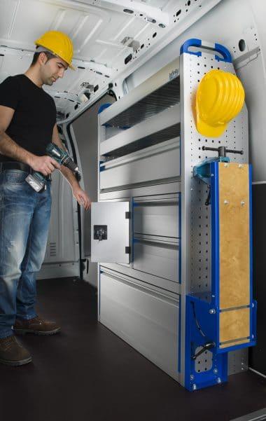 armoire aluminium véhicule utilitaire