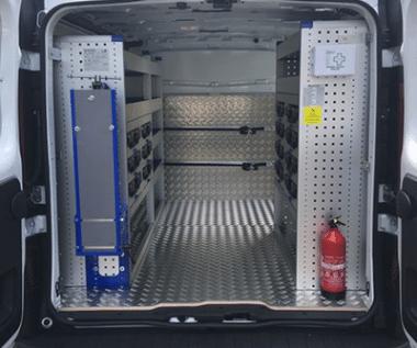 Aménagement véhicule utilitaire aluminium