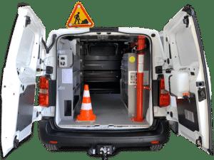 Aménagement utilitaire potence maintenance