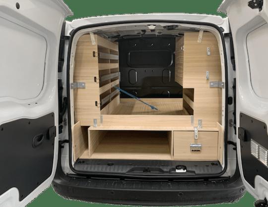 Aménagement utilitaire fibre double plancher