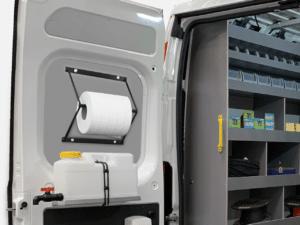 Dévidoir papier véhicule utilitaire