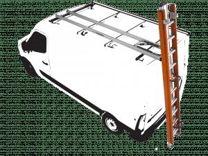 Porte-échelle véhicule utilitaire