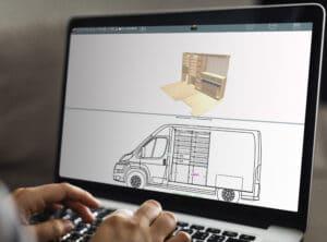 Aperçu aménagement utilitaire 3D logiciel